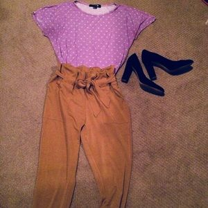 Forever 21 Cropped Polka Dot T-shirt Small
